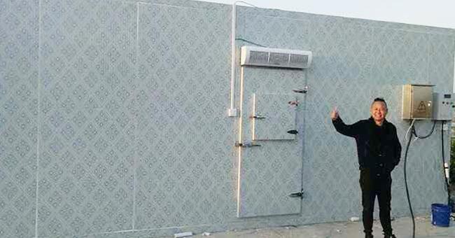 客户对安装好的冷库的赞誉