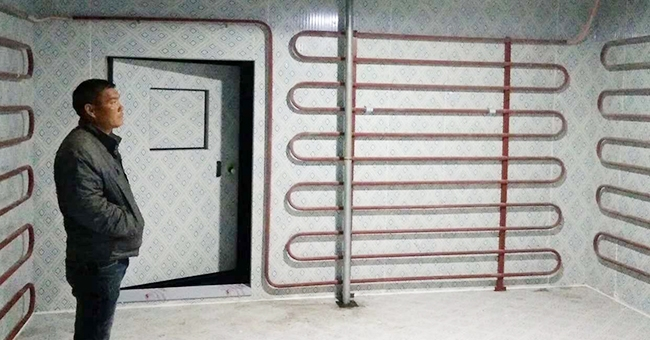 施工中的冷库